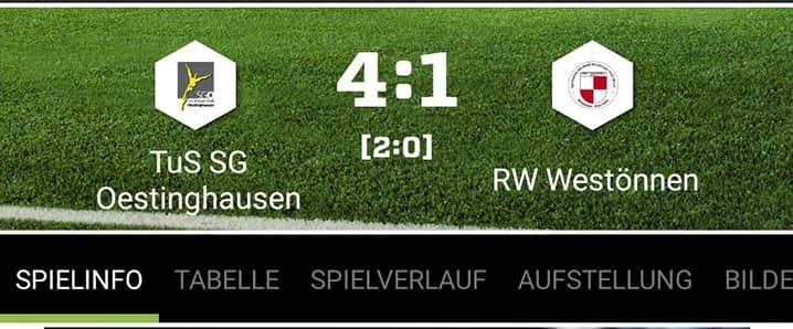Erste Mannschaft gewinnt Derby gegen RW  Westönnen