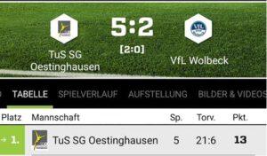 Erste gewinnt Heimspiel gegen VFL Wolbeck
